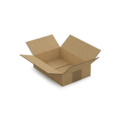 Caisse carton brune simple cannelure RAJABOX longueur 21 à 29,5 cm