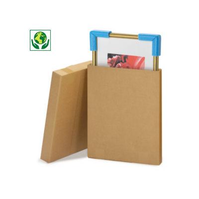 Caisse carton brune télescopique plate