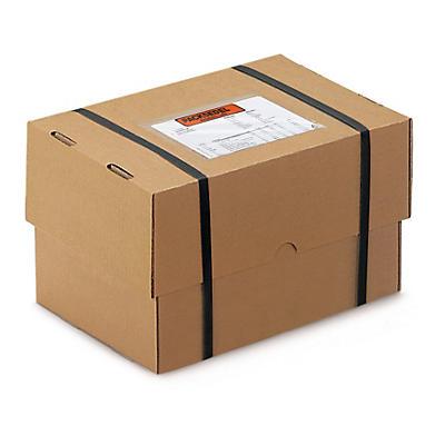 Caisse carton brune télescopique renforcée formats DIN A6 DIN A7##Brauner, verstärkter Stülpdeckelkarton, 1-wellig, DIN A6, A7