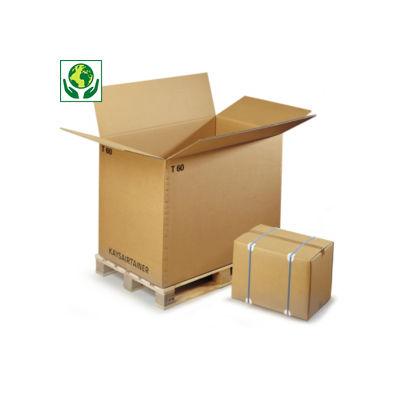 Caisse carton brune triple cannelure de 104 à 119 cm de long Raja##Container driedubbelgolfkarton Raja