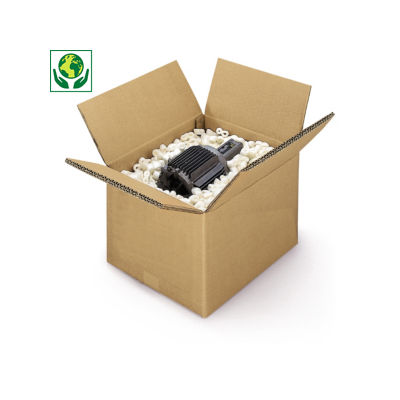 Caisse carton brune triple cannelure de 41 à 101 cm de long##Kartonnen dozen in bruin driedubbelgolfkarton