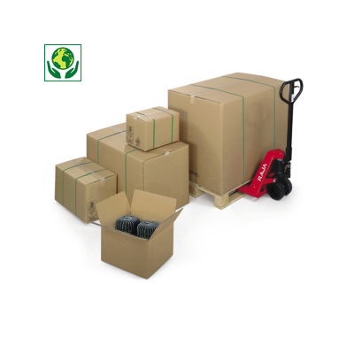 Caisse carton brune triple cannelure longueur 41 à 101 cm RAJABOX