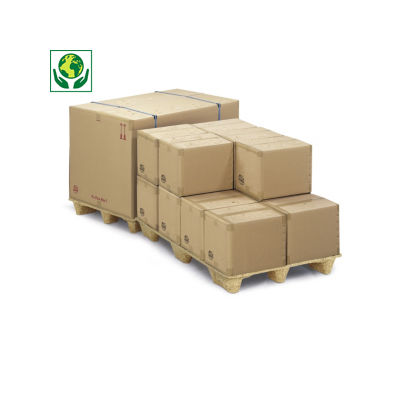 "Caisse carton brune triple cannelure traitement ""Crocodile"" RAJA"