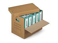 Caisse en carton Class'pack avec abattant et poignées pour classeurs##Archiefdoos met deksel Classpack in dubbelgolfkarton