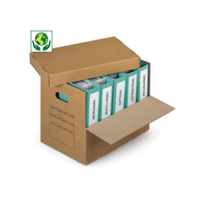 Caisse carton Class pack à poignées avec abattant