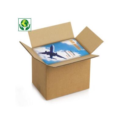 Caisse carton double cannelure format A4/A4+##A4 kartonnen dozen in bruin of wit dubbelgolfkarton