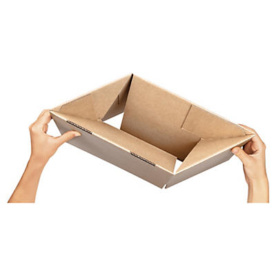 Caisse carton avec fond automatique (simple cannelure)##Wellpapp-Faltkarton mit Automatikboden, 1-wellig