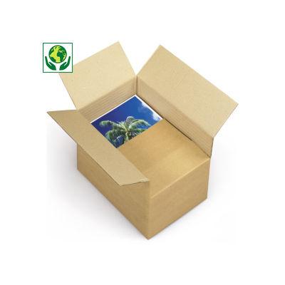 Caisse carton à hauteur variable et montage instantané double cannelure