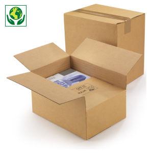 Caisse carton à hauteur variable et montage instantané simple cannelure RAJA