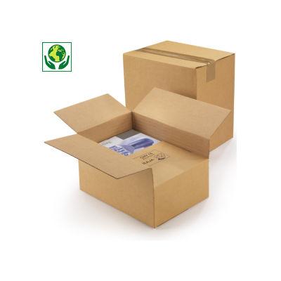 Caisse carton à hauteur variable et montage instantané simple cannelure