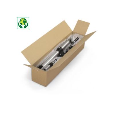 Caisse carton longue double cannelure à grande ouverture RAJABOX longueur 100 à 180 cm