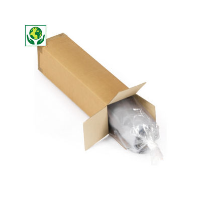 Caisse carton longue simple cannelure RAJABOX
