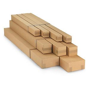 Caisse carton longue télescopique simple cannelure 150/230x30x15 cm