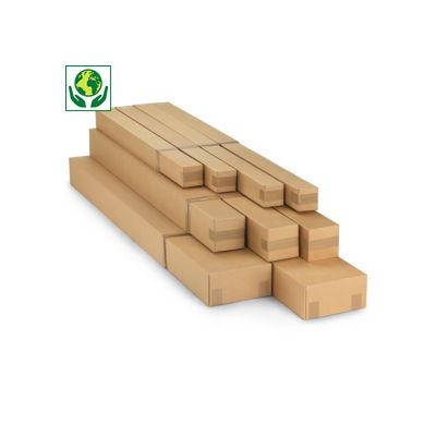 Caisse carton longue télescopique simple cannelure
