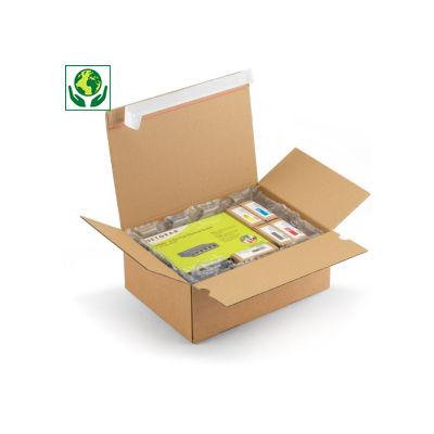 Caisse carton montage instantané et fermeture adhésive