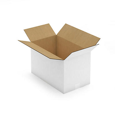 Caisse carton palettisable blanche simple/double cannelure RAJABOX