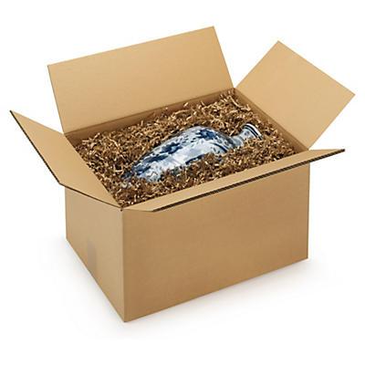Caisse carton palettisable brune double cannelure RAJA - adaptée palette 100x120 cm