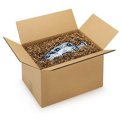 Caisse carton palettisable brune double cannelure RAJABOX - adaptée palette 100x120 cm