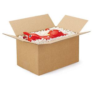 Caisse carton palettisable brune simple cannelure RAJA - adaptée palette 100x120 cm