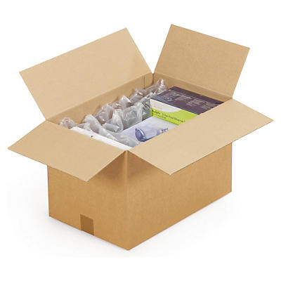 Caisse carton palettisable brune simple cannelure RAJA
