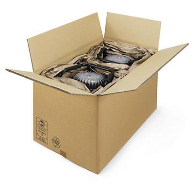 Caisse carton palettisable brune triple cannelure RAJA##Braune Wellpapp-Faltkartons RAJA, 3-wellig, palettierfähig