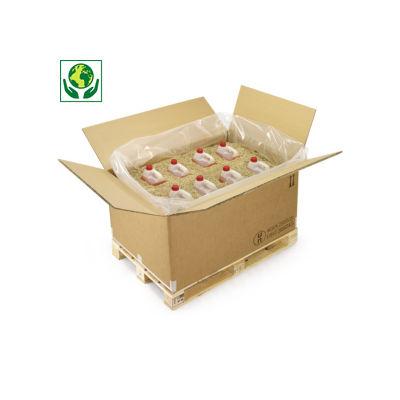 Caisse carton palettisable triple cannelure pour produits dangereux (logo ONU)