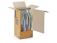 Caisse carton penderie avec barre porte-cintres Qualité Super