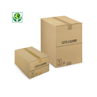 Caisse carton picking simple cannelure