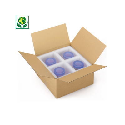 Caisse carton Platibox brune simple cannelure##Platte kartonnen dozen in bruin enkelgolfkarton