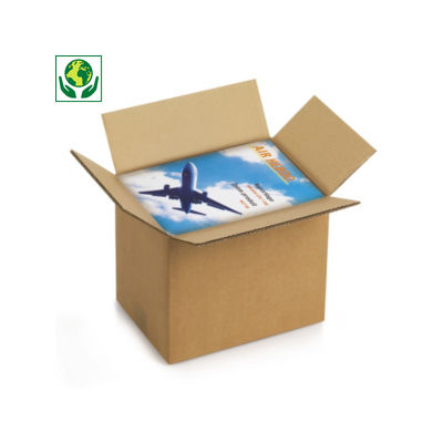 Caisse carton Rajabox brune double cannelure de 40 à 60 cm de long