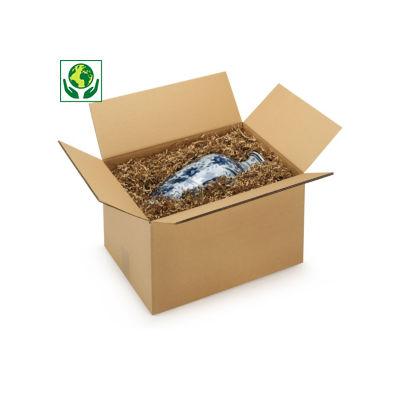 Caisse carton Rajabox brune double cannelure de moins de 40 cm de long##Kartonnen dozen in dubbelgolfkarton van 15 tot 40 cm