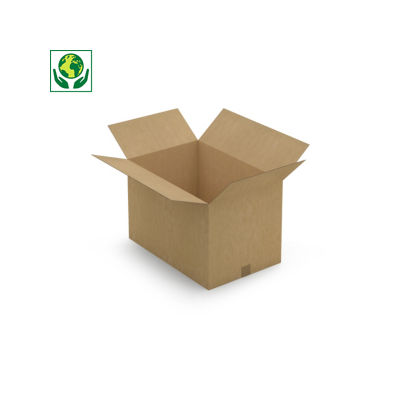 Caisse carton Rajabox simple cannelure brune de 50 cm et plus