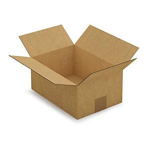 Caisse carton simple cannelure brune 27x19x12 cm