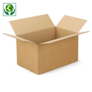 Caisse carton simple cannelure RAJA longueur 30 à 34,5 cm