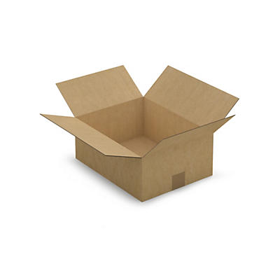 Caisse carton simple cannelure RAJABOX longueur 35 à 39 cm