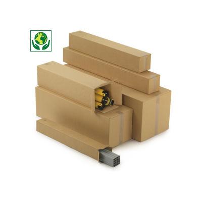 Caisse carton Teckelbox double cannelure pour produits longs et étroits