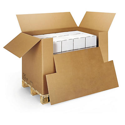 Caisse container avec abattant##Wellpapp- Container mit Ladeklappe