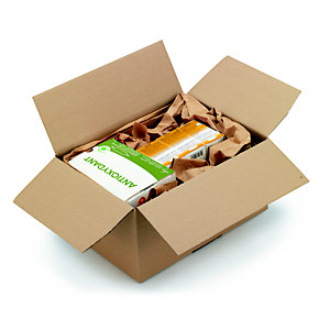 Caisse à montage instantané en carton simple cannelure brun - L.int. 20 x l.15 x h.15 cm
