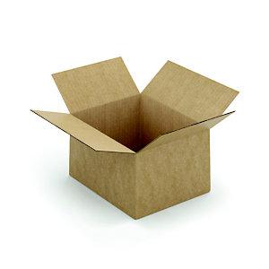 Caisse à montage instantané en carton simple cannelure brun - L.int. 25 x l.20 x h.15 cm