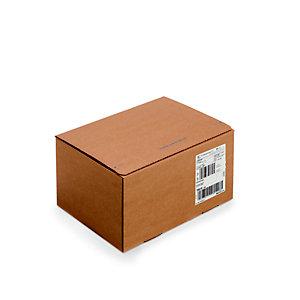 Caisse à montage instantané et fermeture adhésive en carton simple cannelure brun - L.int. 31 x l.23 x H.16 cm