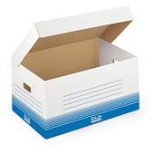 Weisse Klappdeckel-Archivboxen RAJA