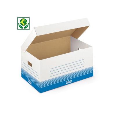 Caisse multi-usage blanche avec couvercle RAJA