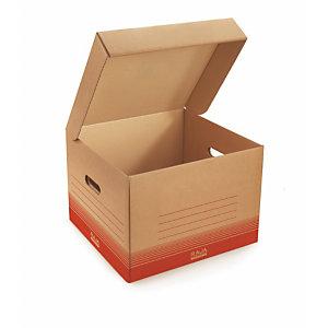 Caisse multi-usage brune avec couvercle RAJA 38x35x33 cm