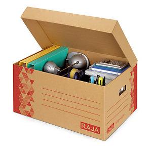 Caisse multi-usage brune avec couvercle RAJA 52x35x25 cm