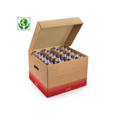 Caisse multi-usage brune avec couvercle RAJA