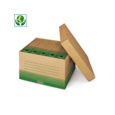 Caisse multi-usage recyclée avec couvercle RAJA