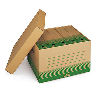 Caisse multi-usages en carton recyclé##Archivboxen recycelt