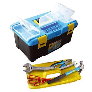 Caisse à outils Safetool et 10 outils
