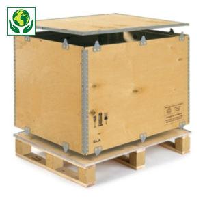 Caisse-palette en bois contreplaqué