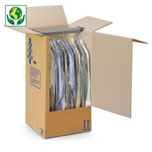 Caisse-penderie carton double cannelure